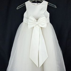 DAVID's Bridal Satin Flower Girl Dress